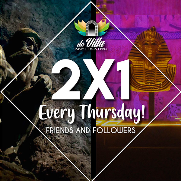 THURSDAY 2x1 De Villa Amphitheater